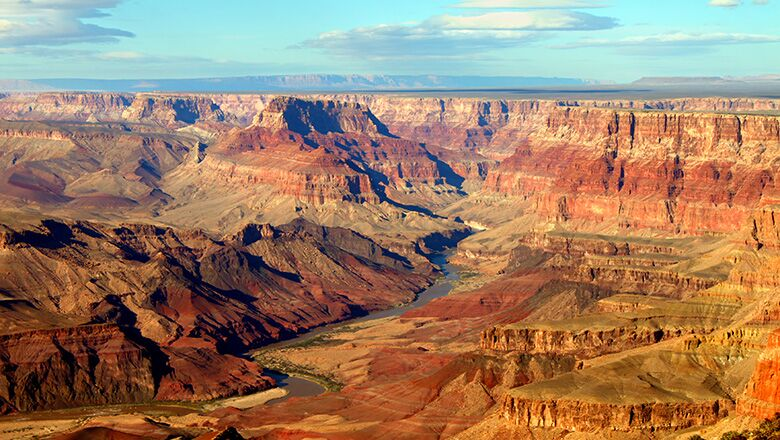Grand Canyon National History Landmark District Seen On A South Rim Bus Tour