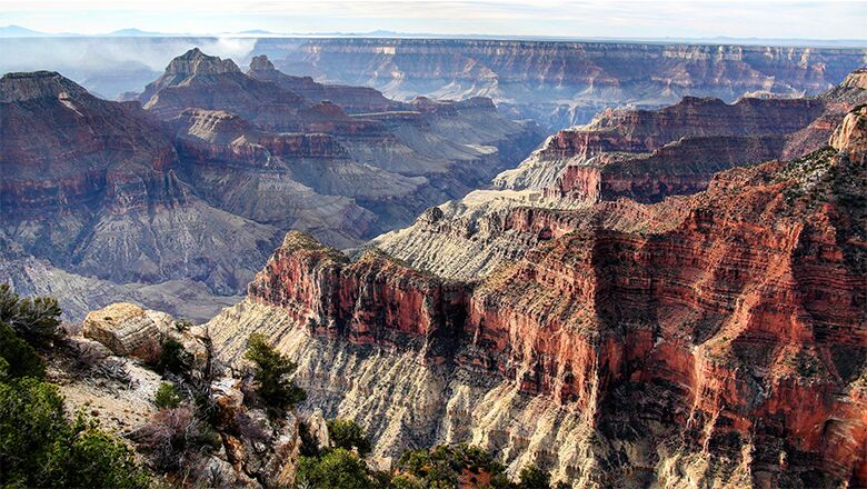 A Vegas to Grand Canyon tour will show you overlooks like this.