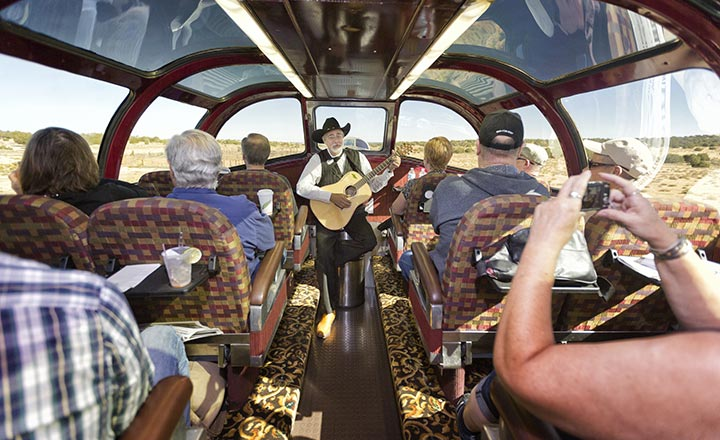 Entertainment on the Grand Canyon Railway Train.