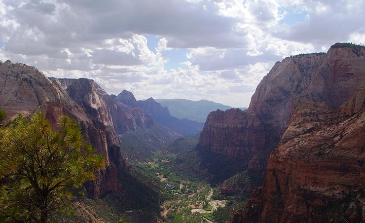 Angel's Landing in Zion National Park.