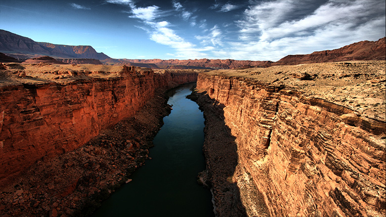 Vegas Grand Canyon tours allow visitors views of the West Rim and Colorado River.