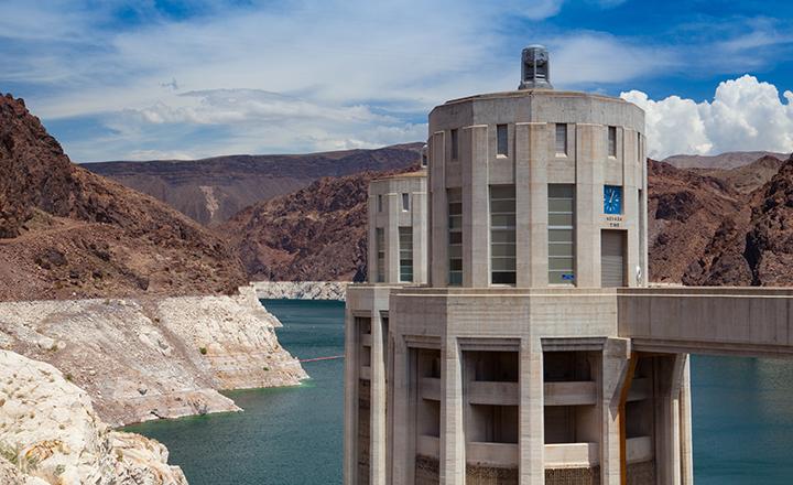 Las Vegas Hoover Dam Nevada side of the Colorado River