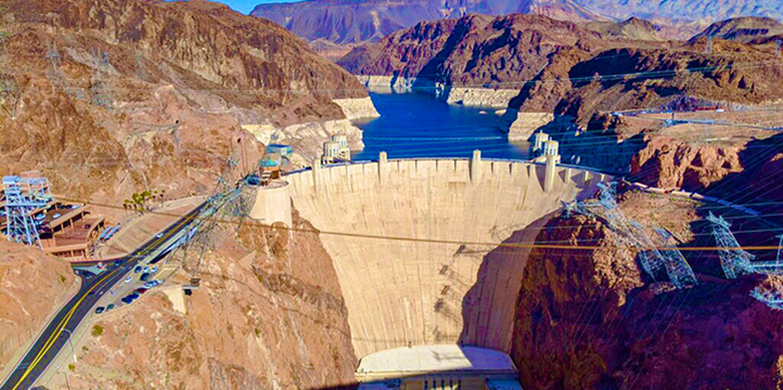 Grand Canyon tours and Hoover Dam tours provide views of the famous dam