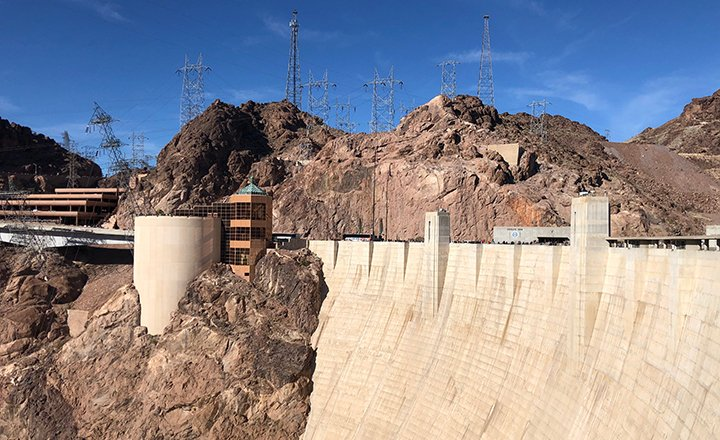 Hoover Dam from the Colorado River side