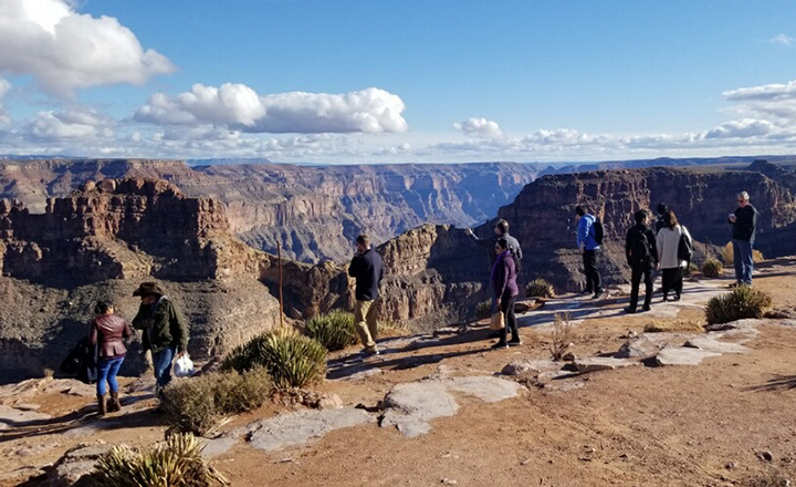 Las Vegas Grand Canyon tours bring visitors to overlooks like this one at Grand Canyon West.