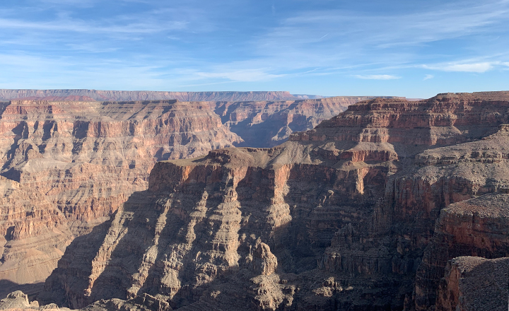 Grand Canyon West Rim has the best views into the amazing Grand Canyon.