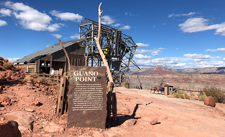 Guano Point at Grand Canyon West is a famous landmark and a must-see for canyon visitors.