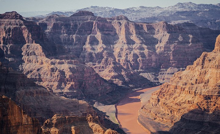 Grand Canyon West has views of the mighty Colorado River for tourists to enjoy.